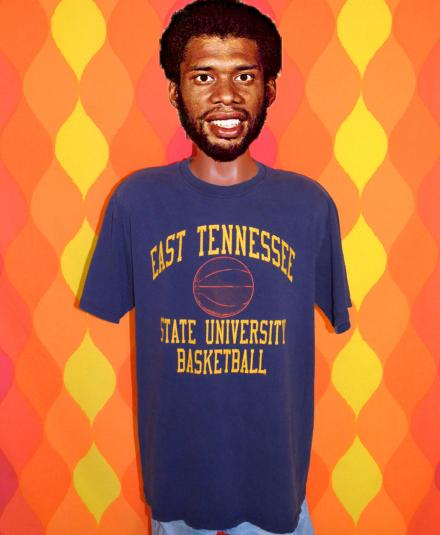 80s ETSU east tennessee state university basketball t-shirt