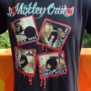 vintage MOTLEY CRUE 1989 tour concert t-shirt kickstart 89