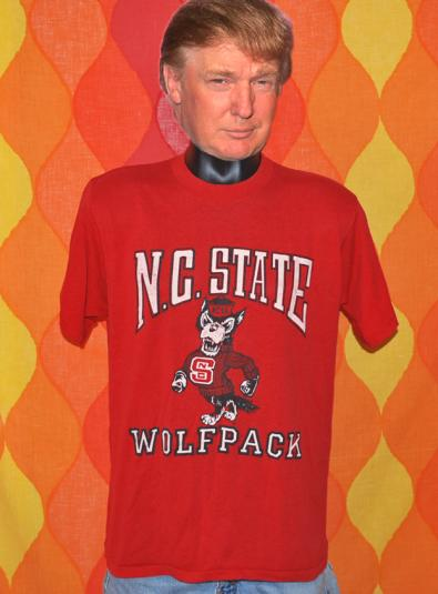vintage NC STATE university wolfpack t-shirt 80s red soft