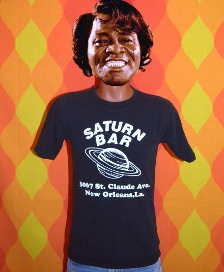 vintage SATURN BAR new orleans black t-shirt 80s planet beer