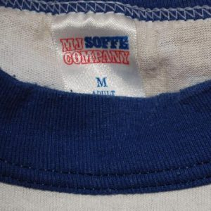 vintage piedmont JOG-A-THON race track run ringer t-shirt