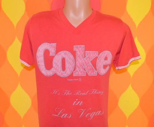 vintage COKE coca cola night gown t-shirt las vegas 80s 70s