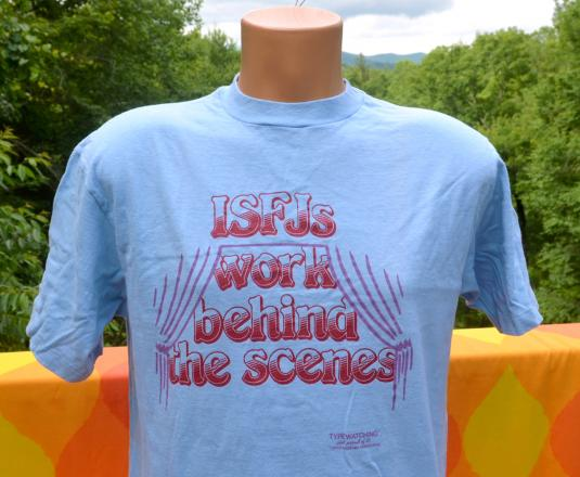 vintage ISFJ myers briggs personality type t-shirt 70s