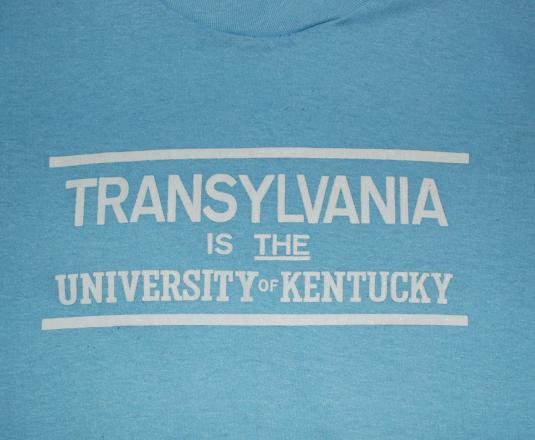 vintage TRANSYLVANIA university kentucky funny t-shirt blue