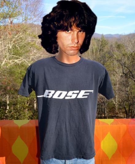 vintage 70s BOSE speakers t-shirt black rock music champion