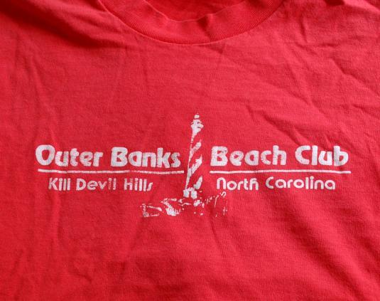 vintage t-shirt OUTER BANKS beach club kill devil hills nc