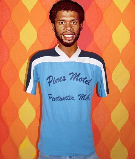 vintage PENTWATER michigan pines motel jersey t-shirt