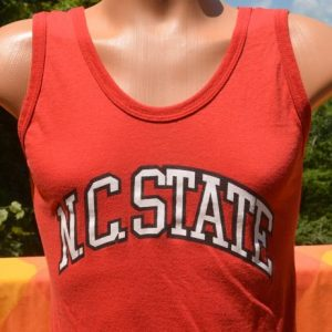vintage NC STATE university tank top wolfpack wolf pack 70s