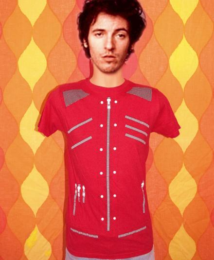 vintage michael jackson BEAT IT t-shirt leather jacket red