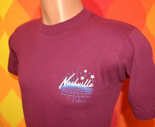 vintage NASHVILLE tennessee country music star t-shirt 80s