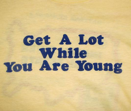 vintage GET A LOT real estate florida 70s t-shirt sex funny