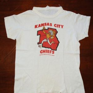 vintage 1968 kansas city CHIEFS nfl football t-shirt native