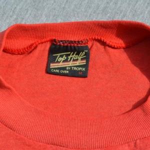 vintage i'm NOT FAT just short funny joke burnout t-shirt 80