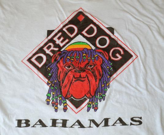 vintage DRED DOG bahamas funny beer t-shirt 420 drugs joke