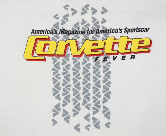 vintage CORVETTE FEVER magazine chevy car auto t-shirt 80s