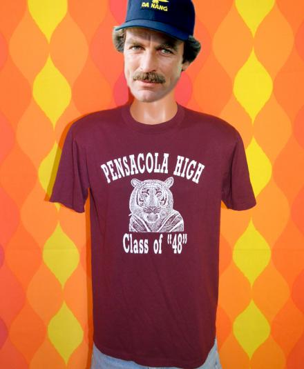 vintage 80s PENSACOLA high school reunion t-shirt tigers 48