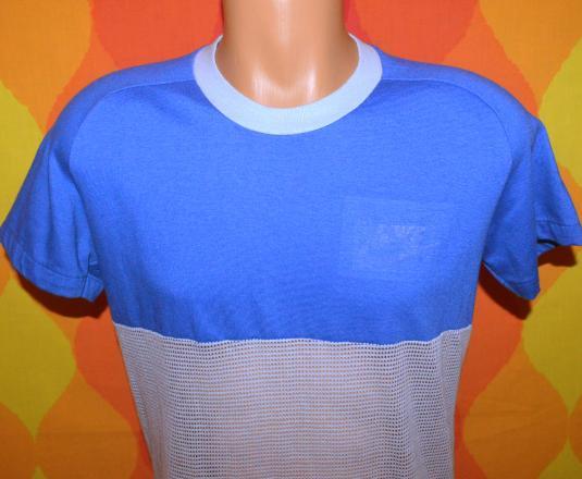 vintage NIKE mesh ringer orange sportswear t-shirt 80s