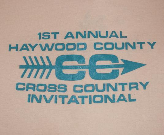 vintage HAYWOOD cross country track t-shirt north carolina