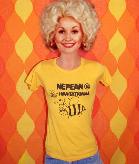 vintage NEPEAN canada bumblebee bee t-shirt gold soft