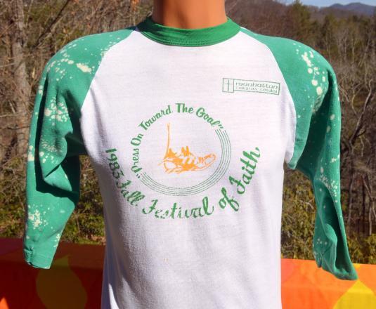 vintage MANHATTAN festival baseball raglan ringer t-shirt 83