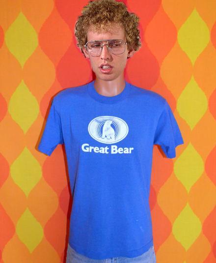 vintage GREAT BEAR polar nature animal graphic t-shirt 80s