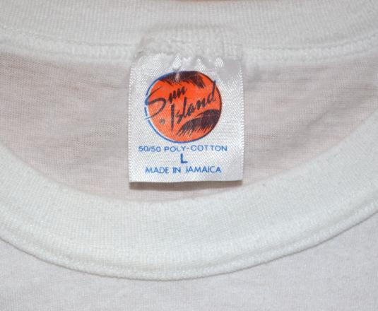 vintage reggae RED STRIPE jamaica beer rasta 420 t-shirt 80s