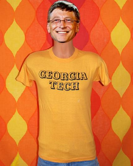 vintage GEORGIA TECH university atlanta college t-shirt gold