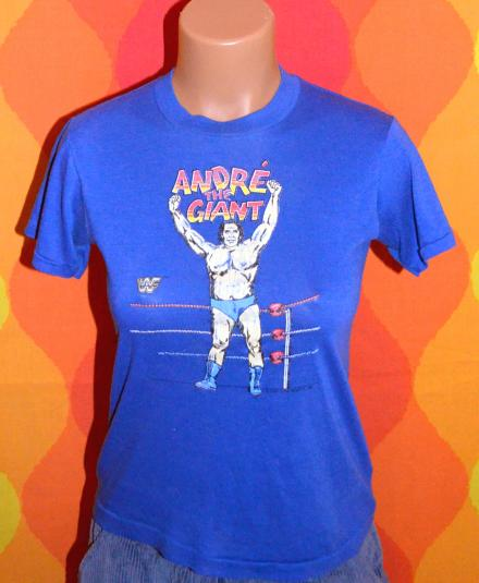vintage ANDRE the giant wwf wrestling t-shirt 1985 authentic