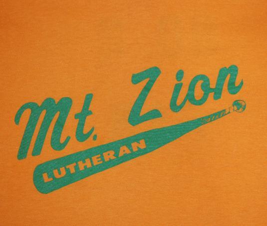 vintage MOUNT ZION church #2 fan funny t-shirt baseball