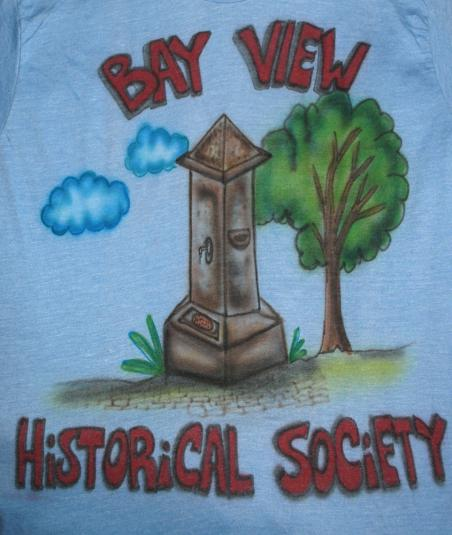 vintage BAY VIEW airbrush wtf monument t-shirt obelisk 70s