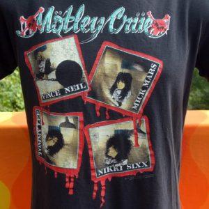 vintage MOTLEY CRUE t-shirt band tour black Medium 80s