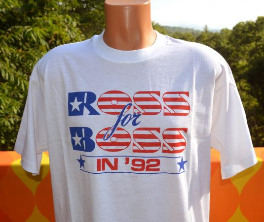 vintage ROSS for BOSS perot presidential election 92 tshirt