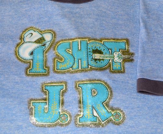 vintage i shot J.R. ewing dallas tv show ringer t-shirt 80s