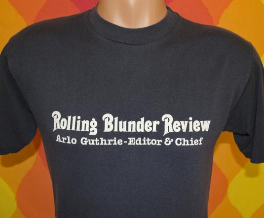 vintage ARLO GUTHRIE rolling blunder review concert tee