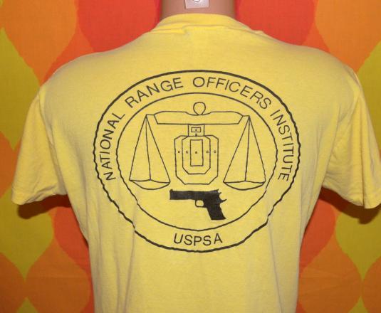 vintage practical SHOOTING range gun official pocket t-shirt