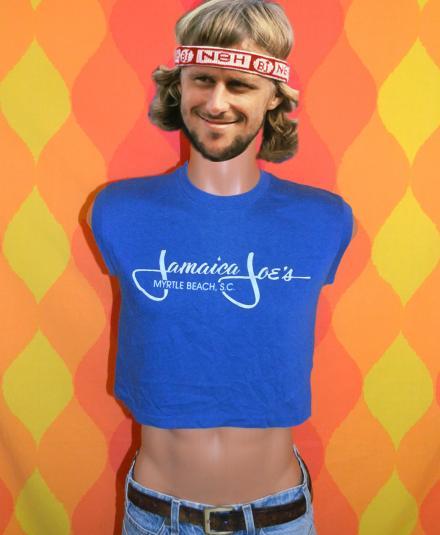 vintage JAMAICA JOE'S half shirt crop top myrtle beach