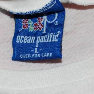 vintage OP ocean pacific half tee shirt crop top 80's surf