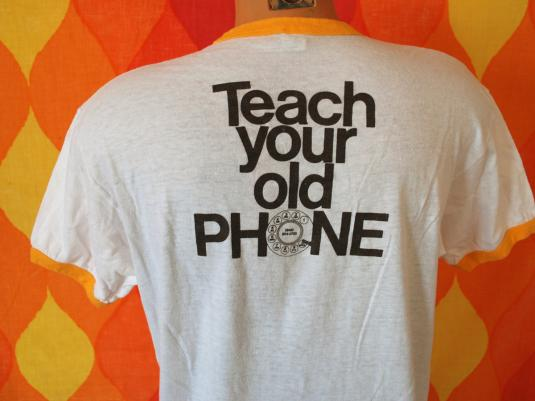 vintage teach your OLD PHONE new tricks rotary ringer 70s