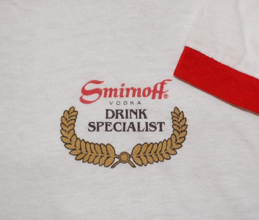 70s t-shirt drink specialist SMIRNOFF vodka ringer Small