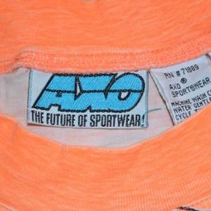 vintage AXO motocross dirt bike neon t-shirt 80s 90s bmx rad
