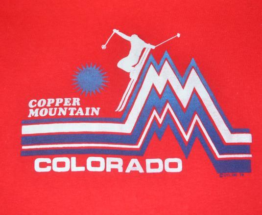 vintage ski COPPER MOUNTAIN colorado rockies 1979 t-shirt