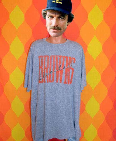 vintage cleveland BROWNS nfl football tri blend t-shirt 80s