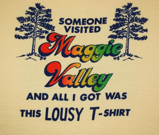 vintage MAGGIE VALLEY lousy rainbow north carolina t-shirt