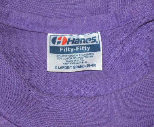 vintage GREAT SMOKY mountains bridge forest t-shirt purple