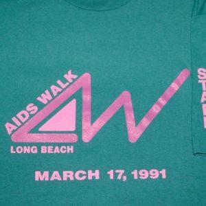 vintage AIDS walk long beach 1991 california t-shirt gay