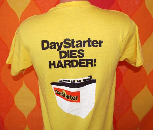 vintage DAYSTARTER battery car auto mechanic t-shirt ched