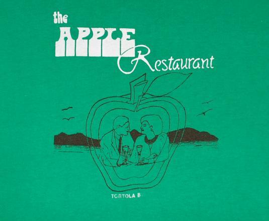 vintage APPLE restaurant tortola virgin islands t-shirt love