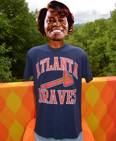 vintage atlanta BRAVES mlb baseball tomahawk t-shirt 80s