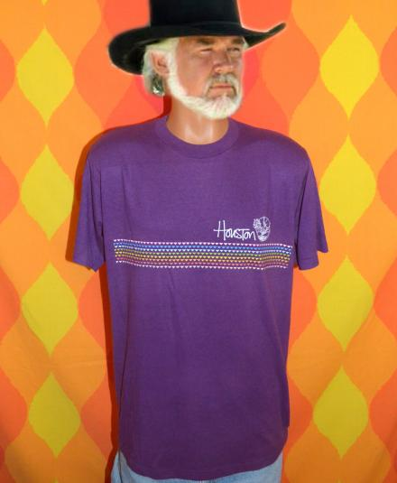 vintage HOUSTON texas purple rainbow longhorns t-shirt