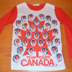vintage 1976 OLYMPICS canada hockey team photo t-shirt 70s